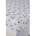 Простынь на резинке АртПостель(ART252), цвет: полянка,фиолетовый