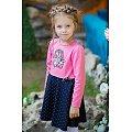 Платьице для девочки Bossa Nova(BN150B167P), цвет: розовый,синий.горошек