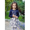 Платьице для девочки Bossa Nova(BN150B167), цвет: синий,молочный