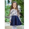 Платьице для девочки Bossa Nova(BN150B187), цвет: молочный,синий.горошек