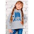 Джемпер для девочки Looklie(LK0557), цвет: серый.меланж