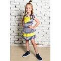 Платьице для девочки Looklie(LK0904), цвет: черная.полоска,желтый