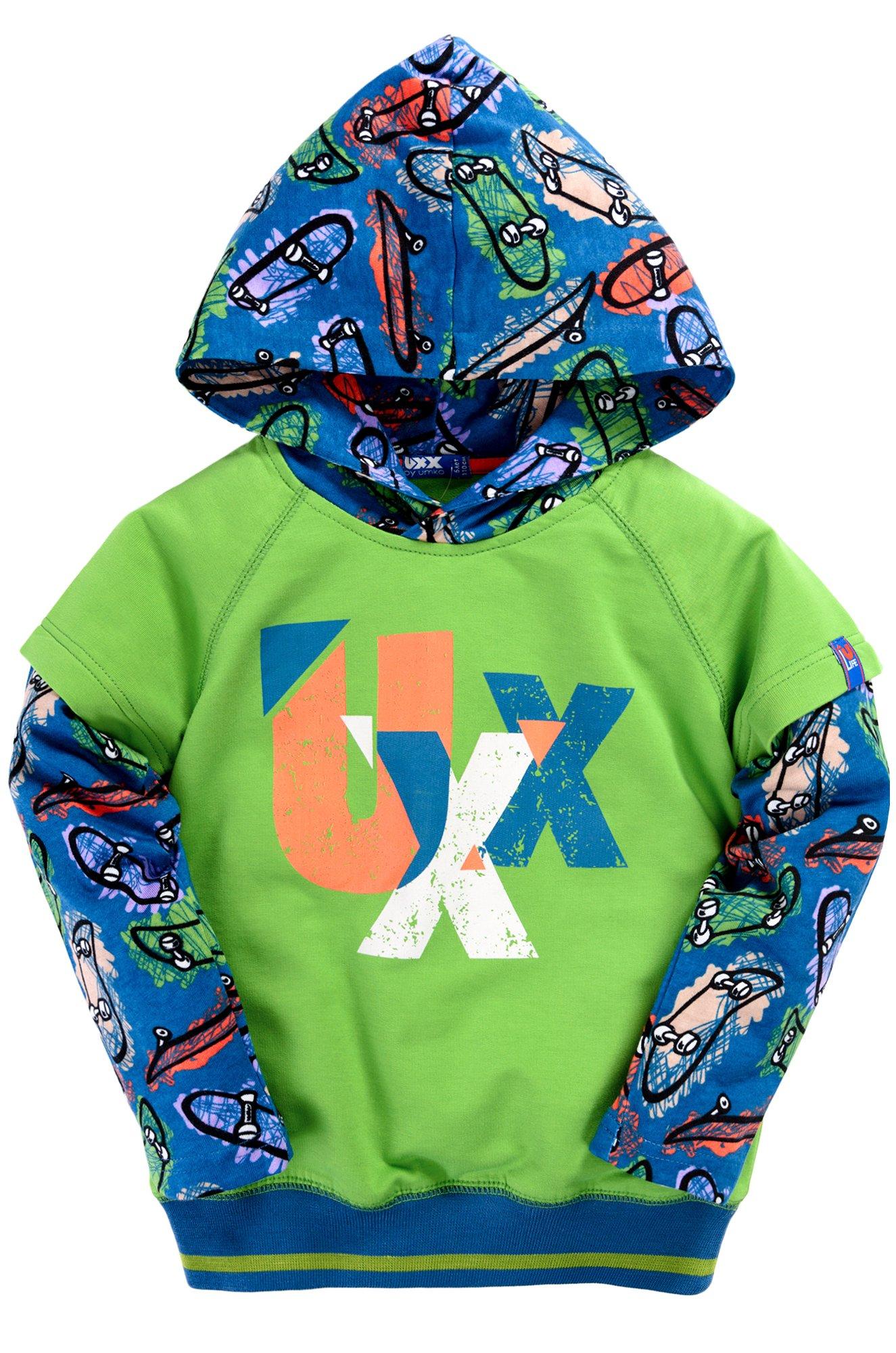 027f21ef Толстовка для мальчика Umka 10500411811 зеленый купить оптом в ...