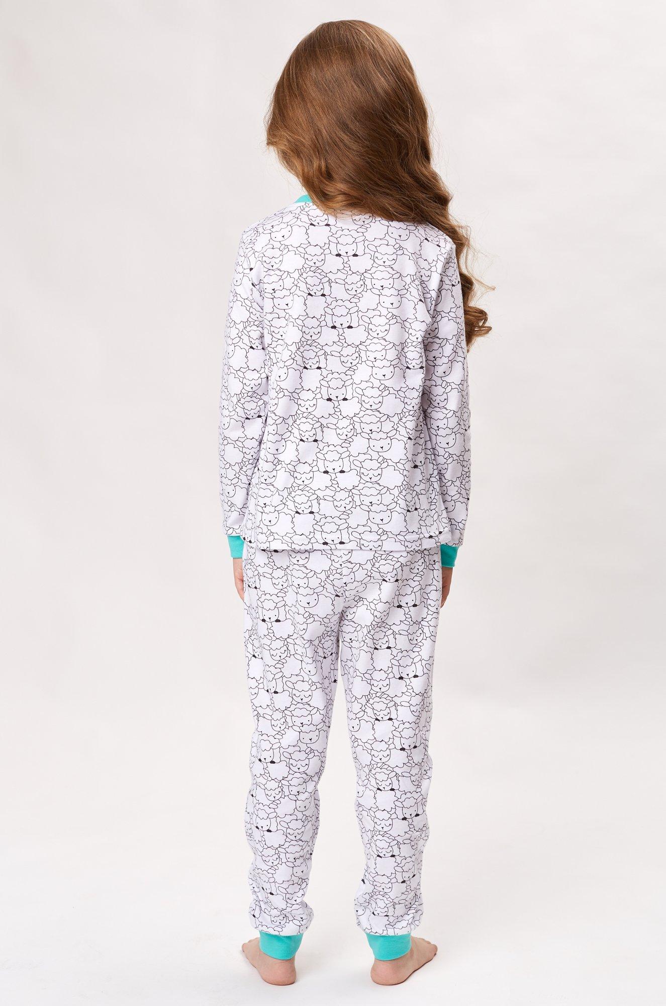5975213abfbf Пижама для девочки Umka 6532263 белый купить оптом в HappyWear.ru