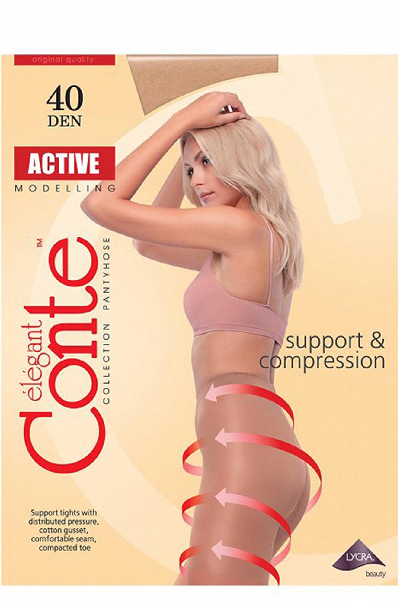 Conte elegant, Корректирующие колготки 40 DEN с распределенным давлением по ноге и сильным поддерживающим верхом 8S61SP (6559516)
