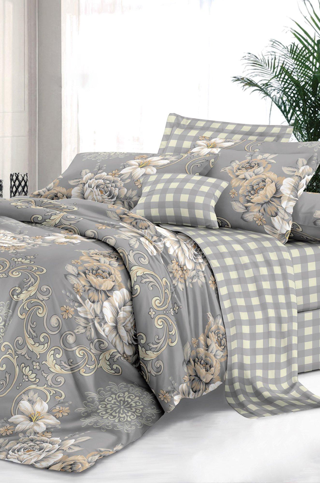 Art Cotton, Постельное белье из сатина, евро, наволочки 70*70 Art Cotton ARTCT658334 (0679715074)