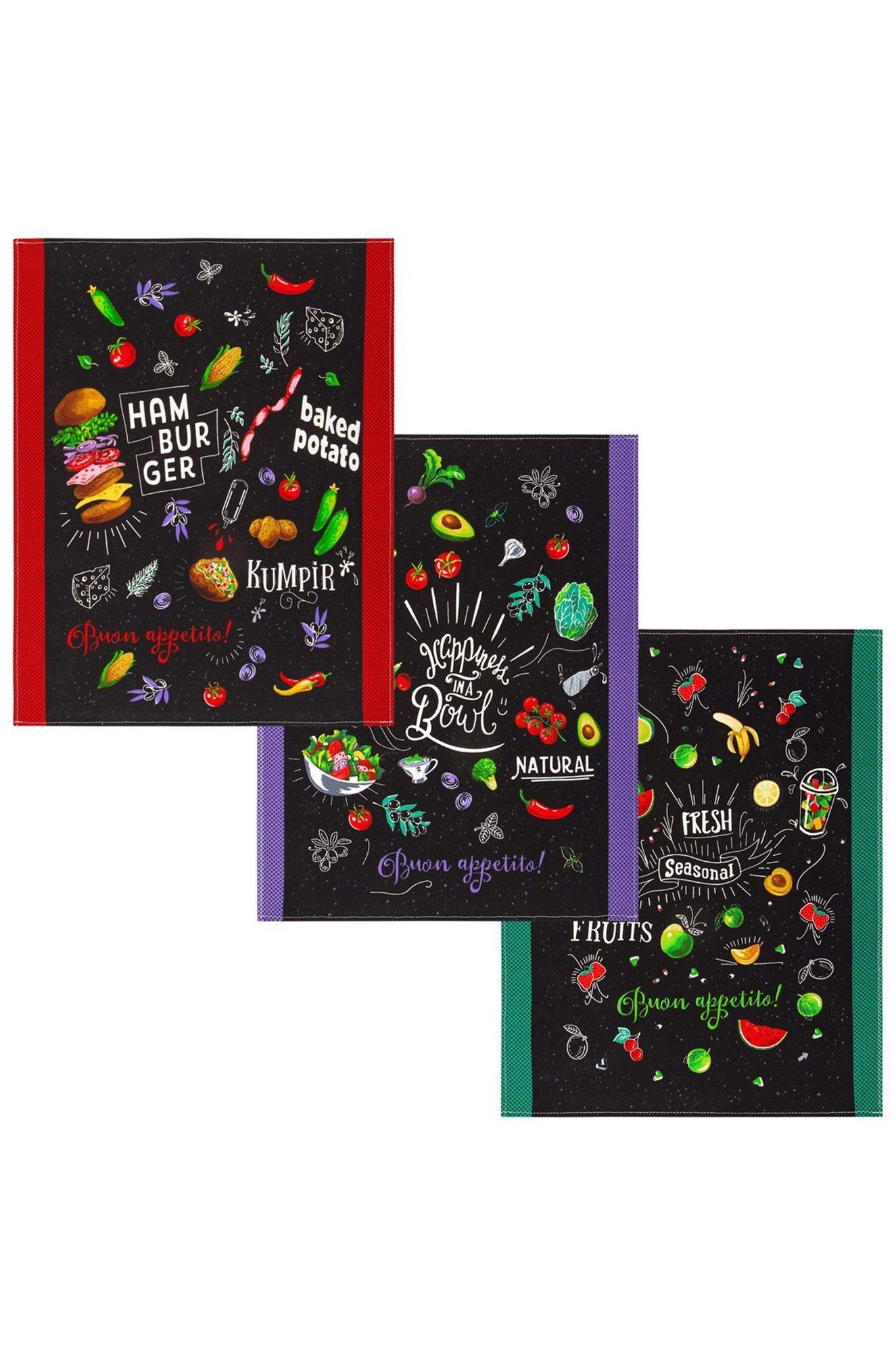 АртДизайн, Комплект полотенец из рогожки 3 шт АртДизайн ARTN3PKR4560 (1298499917)