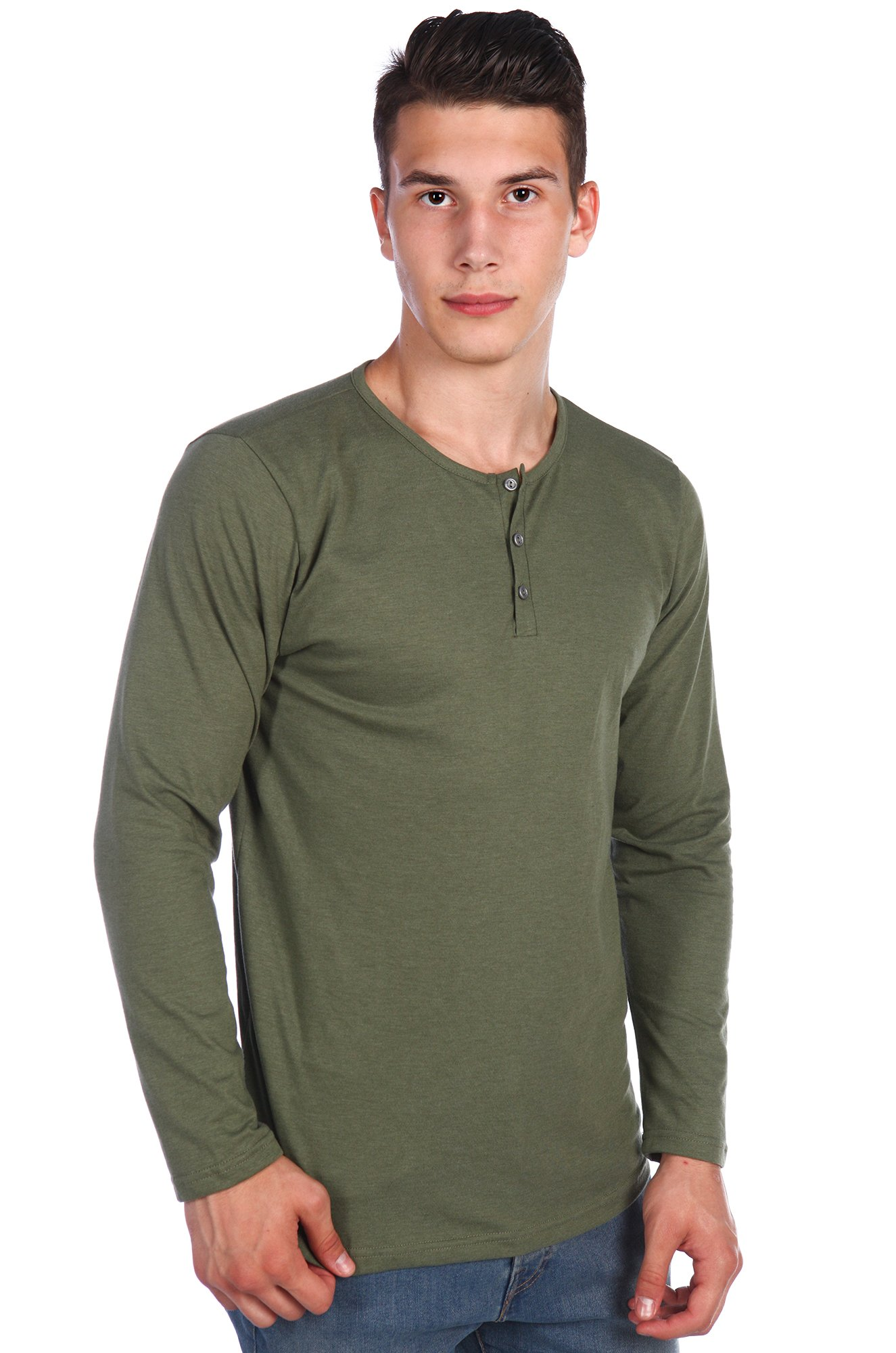 b240fa050d601fa Футболка мужская с длинным рукавом Грация 6544740 зеленый купить ...