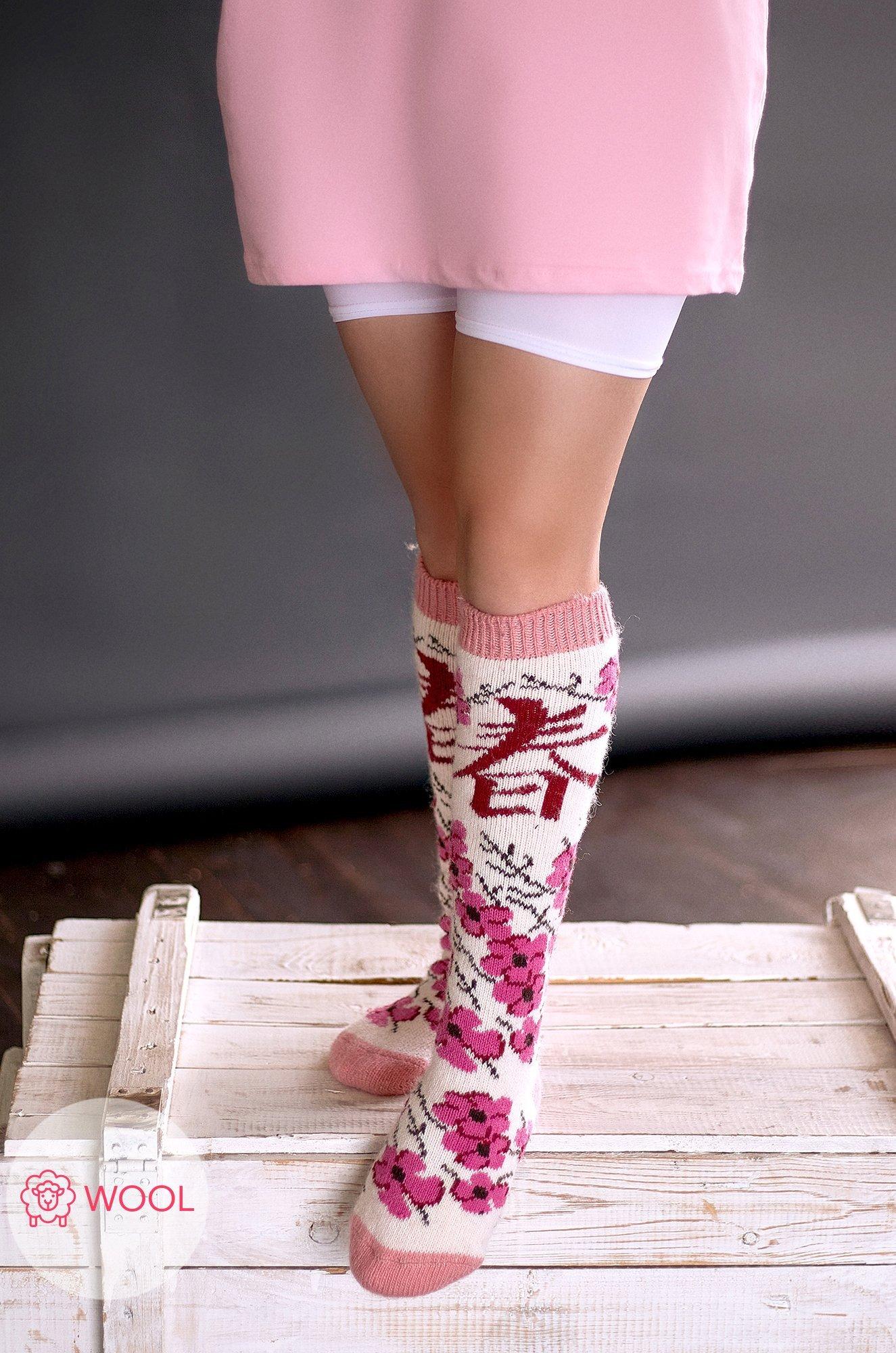 Бабушкины носки, Шерстяные женские гольфы G6R1131 (1099707758)