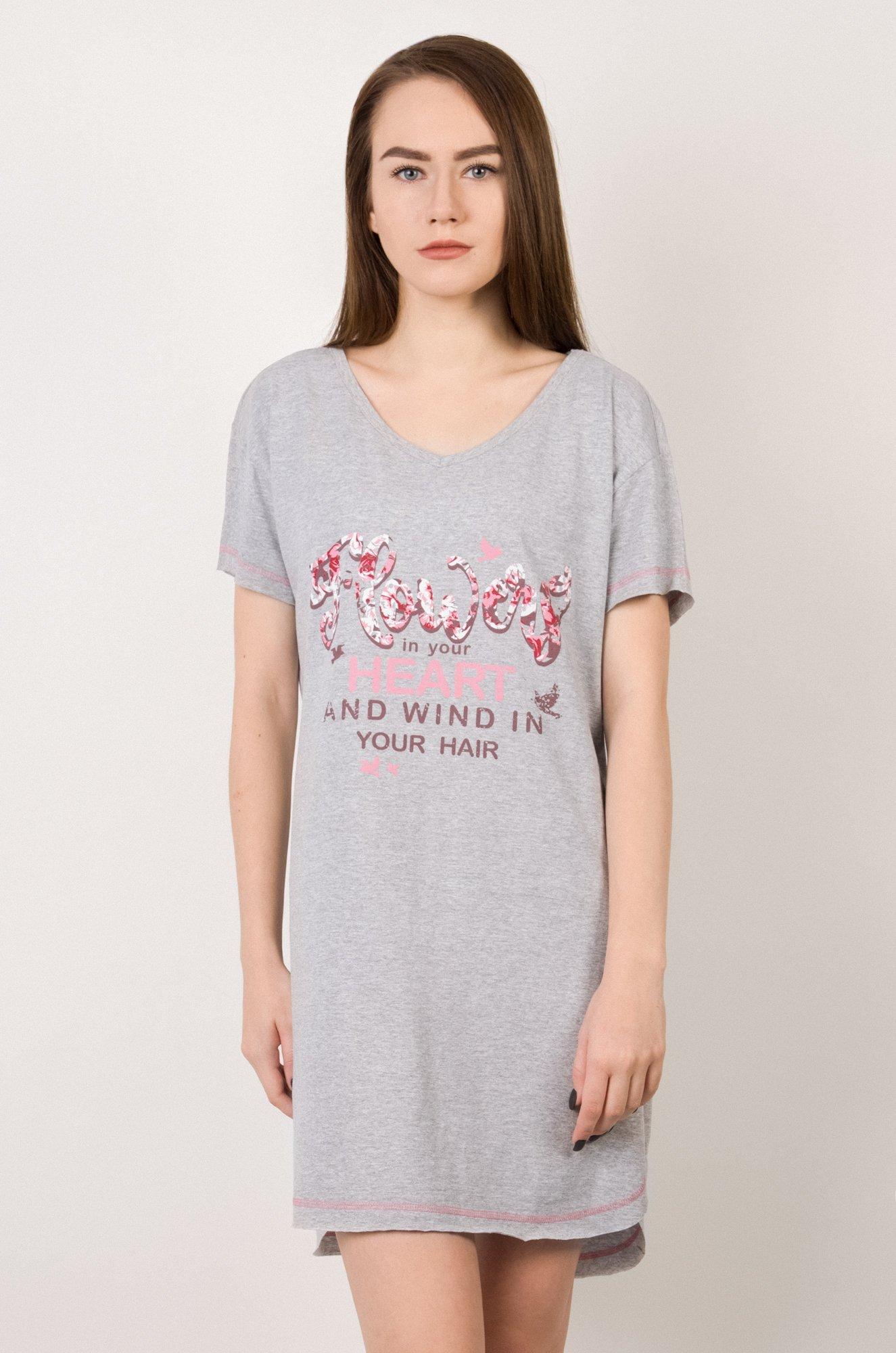 2c808a34840a Платье Российский трикотаж 6527428 серый купить оптом в HappyWear.ru