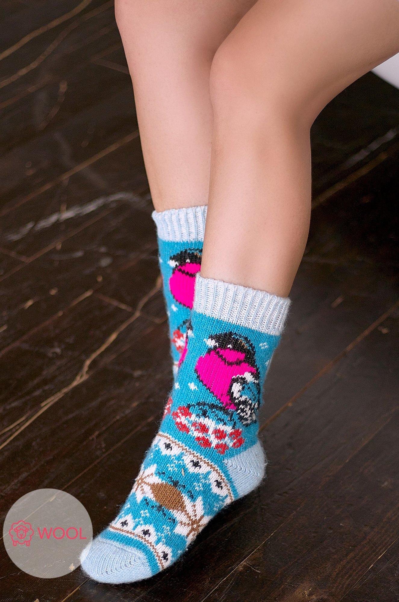Бабушкины носки, Женские шерстяные носки N6R2081 (0647605621)
