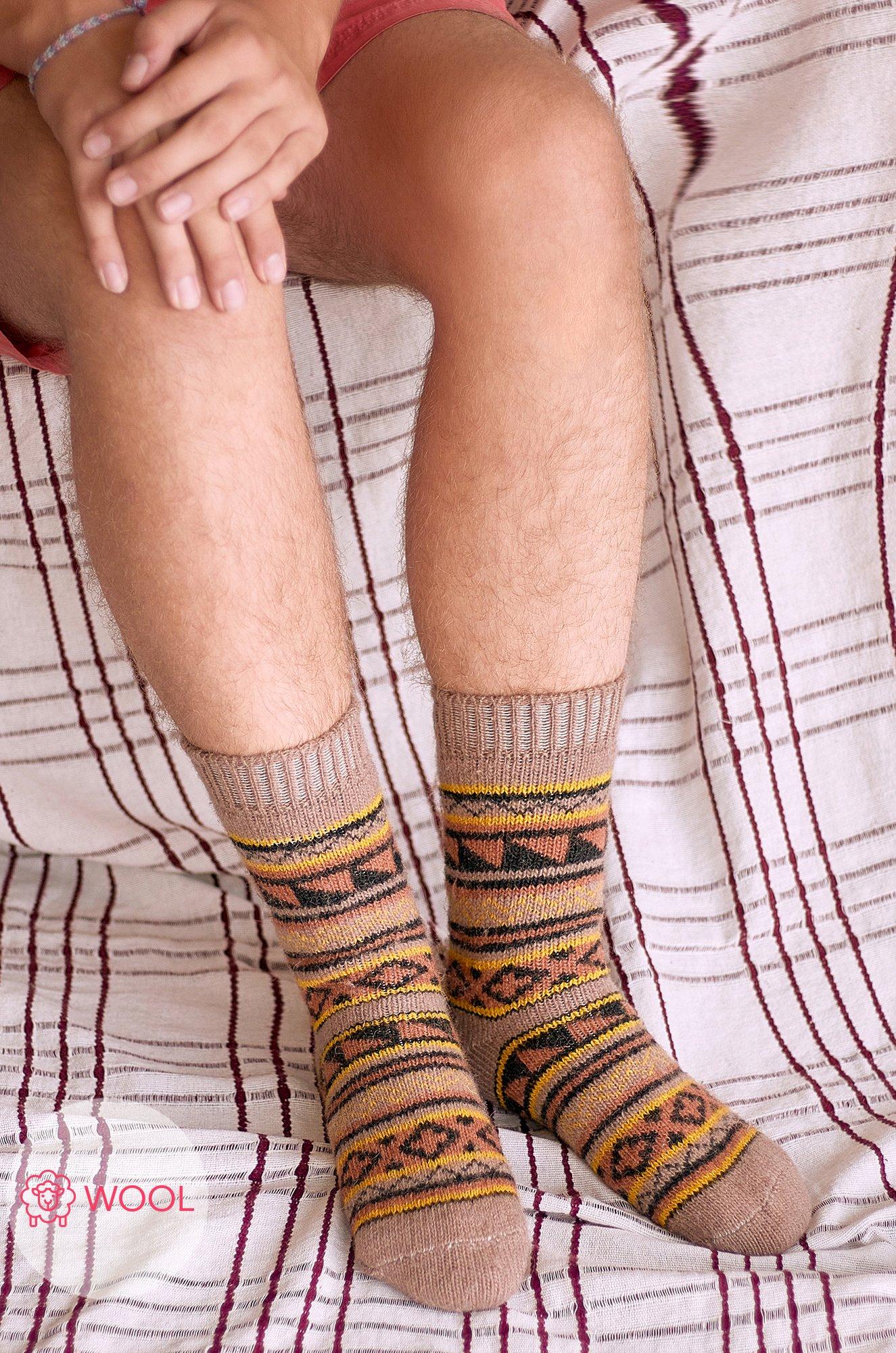 Бабушкины носки, Мужские шерстяные носки Бабушкины носки N6R2181 (475265436)