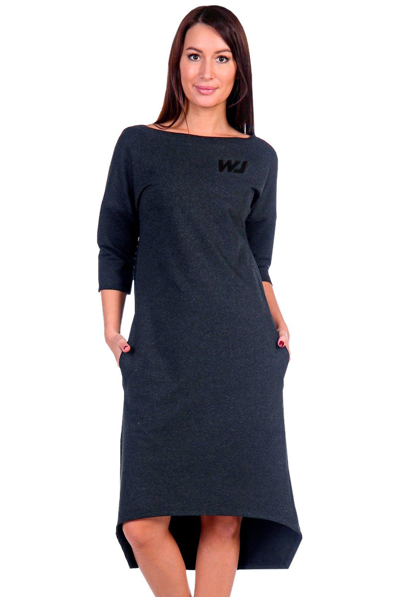 b6ce73af9be7 Платье Натали 6528102 серый купить оптом в HappyWear.ru