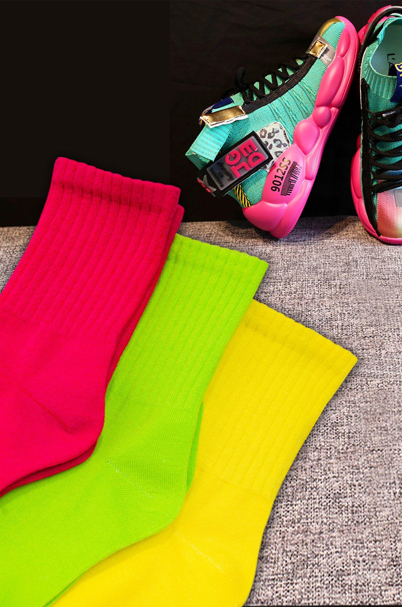 Berchelli, Ультрастильные женские носки в модных неоновых расцветках, 3 пары NT63558 (6636028)