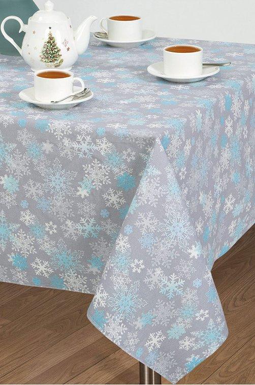 Скатерть из рогожки АртДизайн 6613180 серый купить оптом в HappyWear.ru