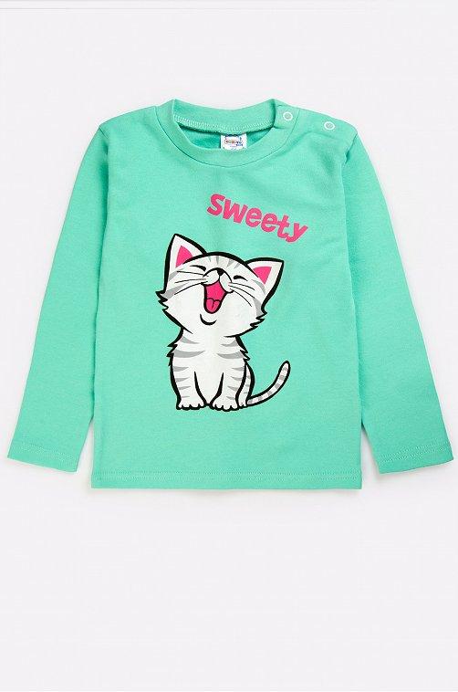 Джемпер для девочки Bonito 6631262 зеленый купить оптом в HappyWear.ru