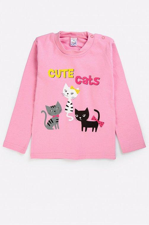 Джемпер для девочки Bonito 6631256 розовый купить оптом в HappyWear.ru