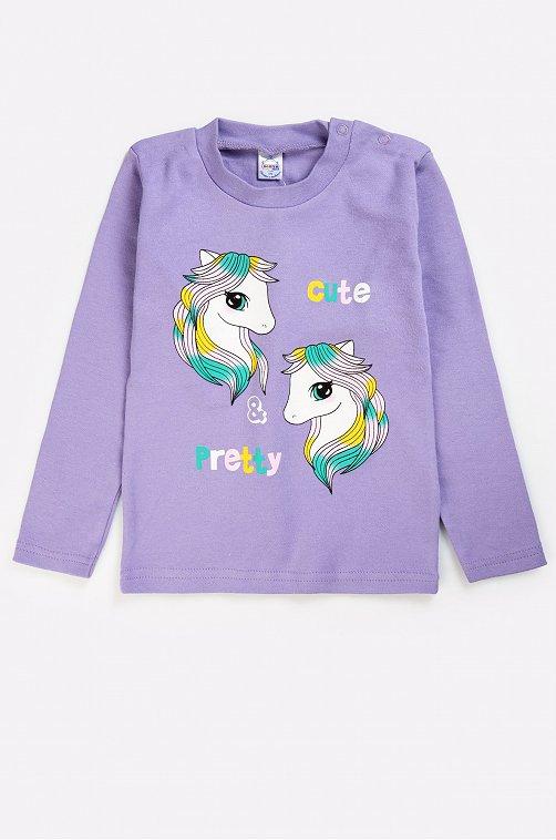 Джемпер для девочки Bonito 6631260 фиолетовый купить оптом в HappyWear.ru