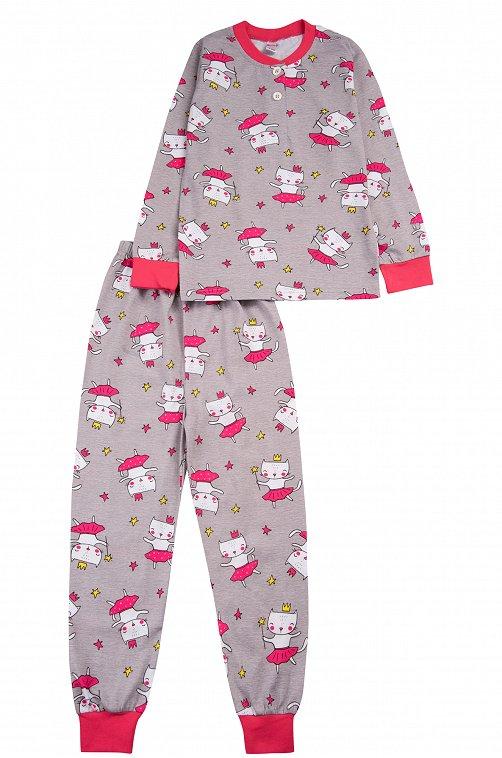 Пижама для девочки Bonito 6612791 серый купить оптом в HappyWear.ru