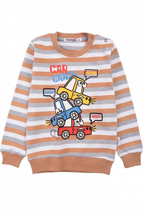 Джемпер для мальчика Bonito 6612625 мультиколор купить оптом в HappyWear.ru