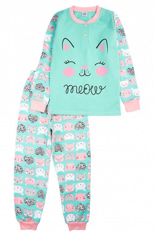 Пижама для девочки Bonito 6613316 голубой купить оптом в HappyWear.ru