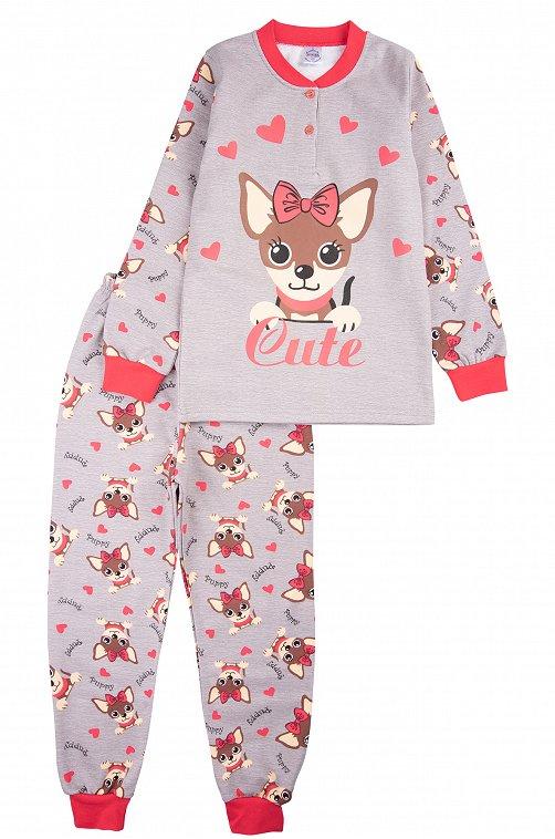 Пижама для девочки Bonito 6613315 серый купить оптом в HappyWear.ru