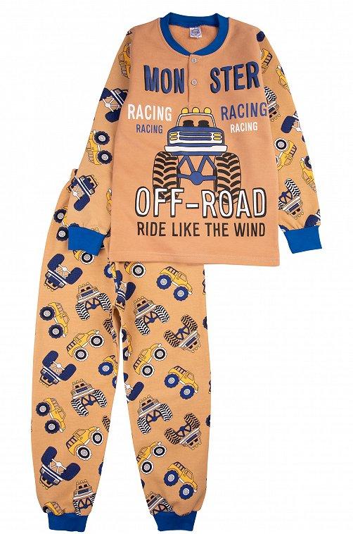Пижама для мальчика Bonito 6613318 коричневый купить оптом в HappyWear.ru