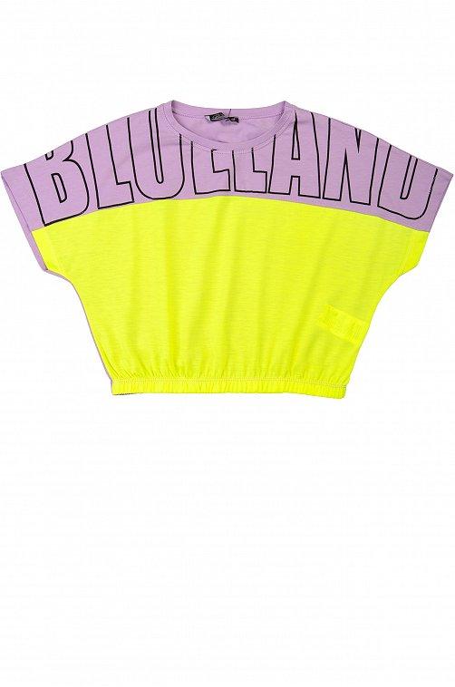 Футболка для девочки BLUELAND 6631750 мультиколор купить оптом в HappyWear.ru