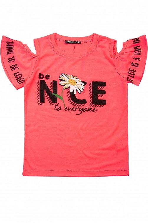 Футболка для девочки BLUELAND 6631741 розовый купить оптом в HappyWear.ru