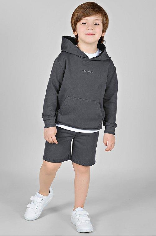 Худи для мальчика Bossa Nova 6649669 серый купить оптом в HappyWear.ru