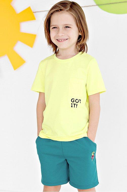 Футболка для мальчика Bossa Nova 6638714 желтый купить оптом в HappyWear.ru