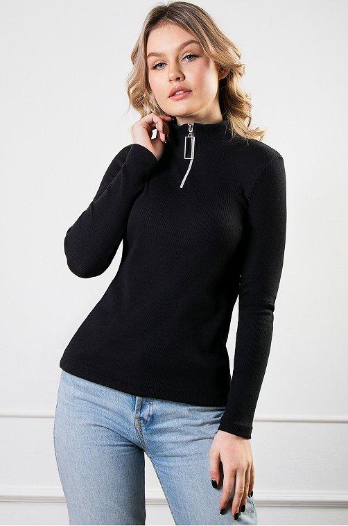 Водолазка женская Brosko 6626886 черный купить оптом в HappyWear.ru