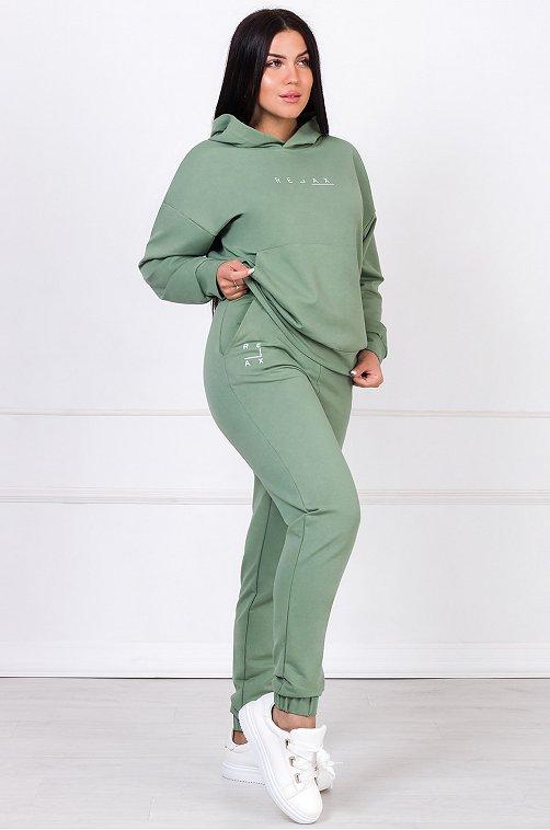 Женский спортивный костюм 6649060 зеленый купить оптом в HappyWear.ru