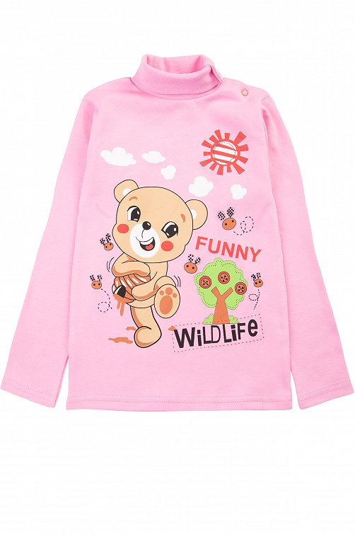 Водолазка для девочки Baby Style 6613324 розовый купить оптом в HappyWear.ru