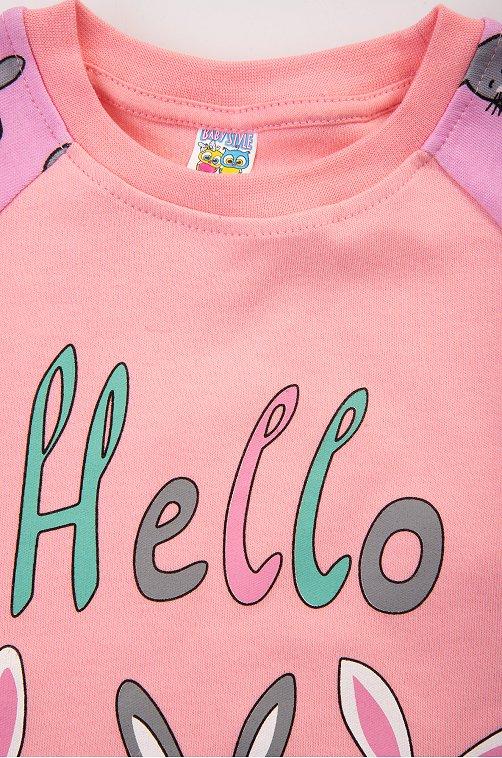 Пижама для девочки Baby Style зайцы,розовый