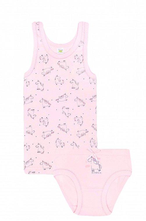 Комплект для девочки Crockid 6561315 розовый купить оптом в HappyWear.ru
