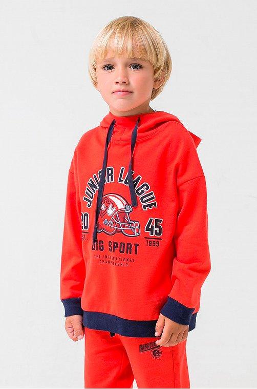 Толстовка для мальчика Crockid 6627861 красный купить оптом в HappyWear.ru
