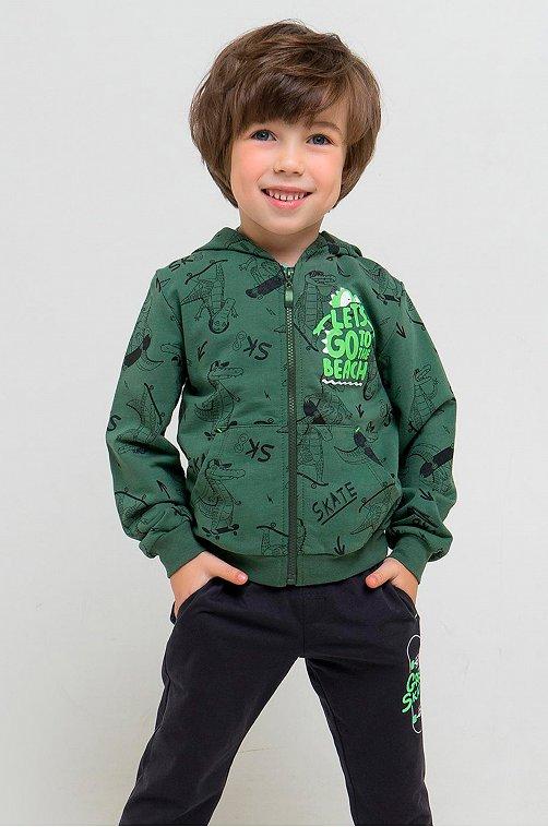 Жакет для мальчика Crockid 6630016 зеленый купить оптом в HappyWear.ru