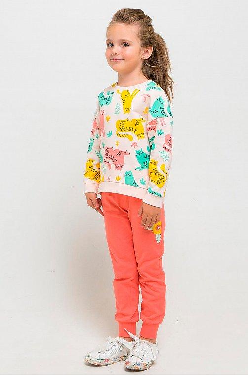 Джемпер для девочки Crockid 6630018 мультиколор купить оптом в HappyWear.ru