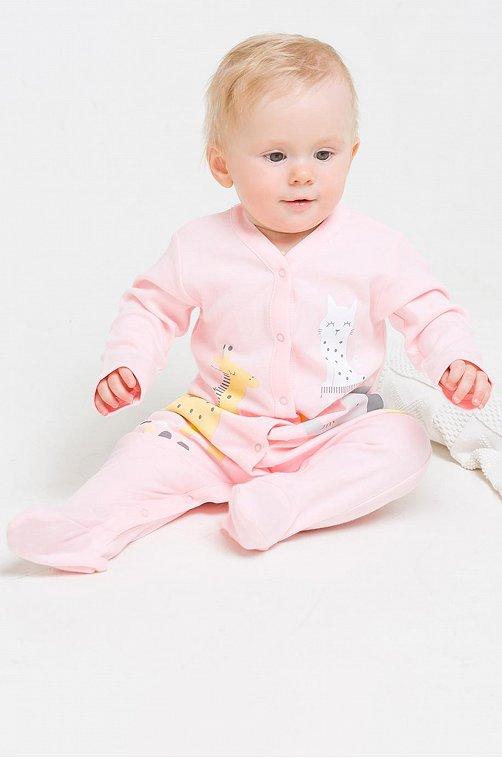 Комбинезон для девочки Crockid 6630199 розовый купить оптом в HappyWear.ru