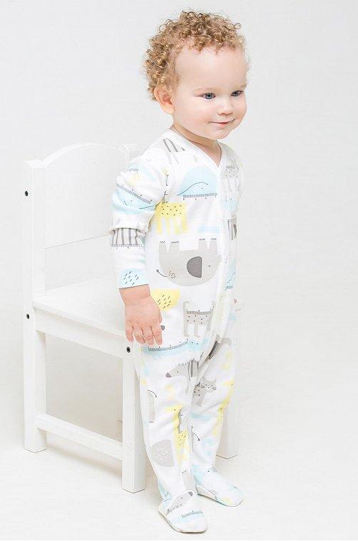 Комбинезон для мальчика Crockid 6630055 мультиколор купить оптом в HappyWear.ru