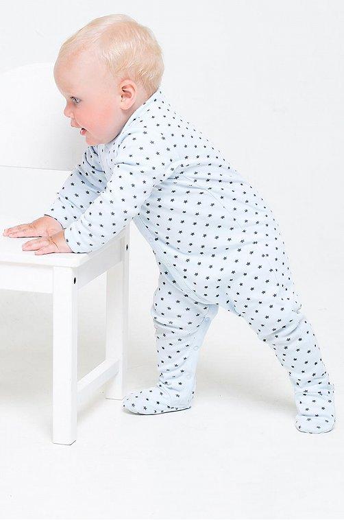 Комбинезон для мальчика Crockid 6630053 голубой купить оптом в HappyWear.ru
