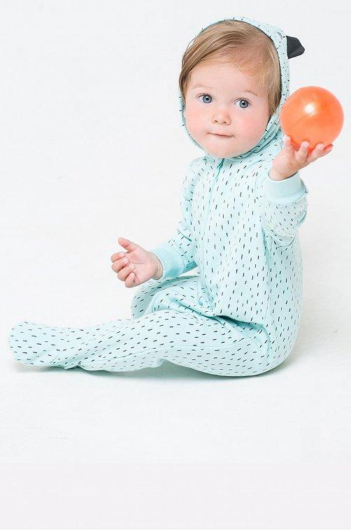 Комбинезон для мальчика утепленный Crockid 6630062 голубой купить оптом в HappyWear.ru