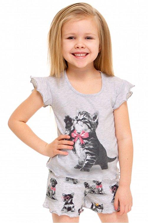 Пижама для девочки Апрель 6628417 мультиколор купить оптом в HappyWear.ru