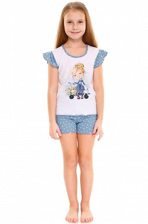Пижама для девочки Апрель 6630759 мультиколор купить оптом в HappyWear.ru