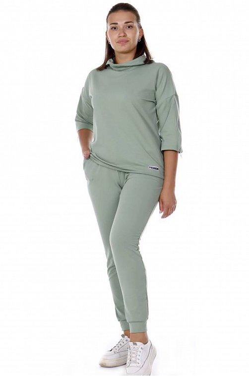 Женский костюм Ткань футер 2х-нитка с лайкрой, плотность 280 г/м2 6658889 зеленый купить оптом в HappyWear.ru