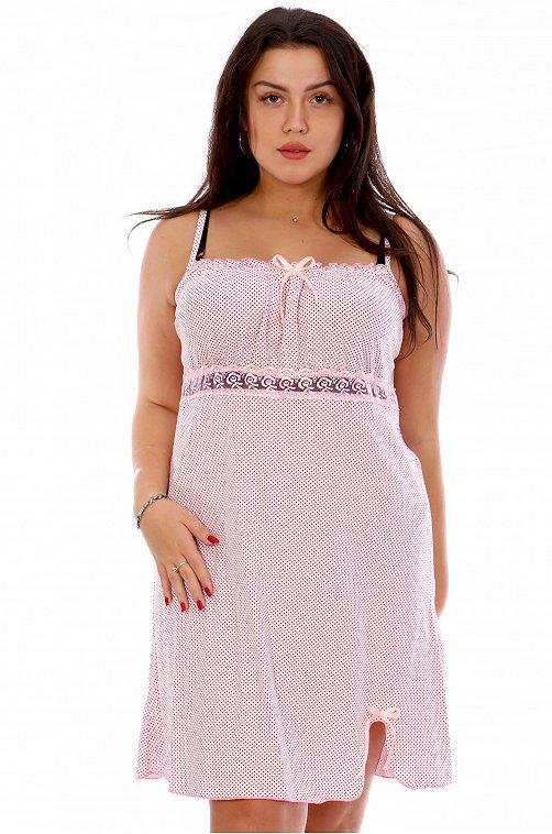 Сорочка женская OdevaiS 6625044 розовый купить оптом в HappyWear.ru