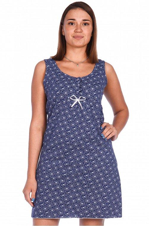 Сорочка женская OdevaiS 6612456 синий купить оптом в HappyWear.ru