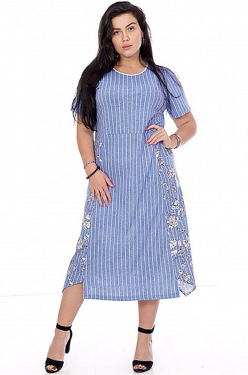 Платье женское OdevaiS 6625051 голубой купить оптом в HappyWear.ru