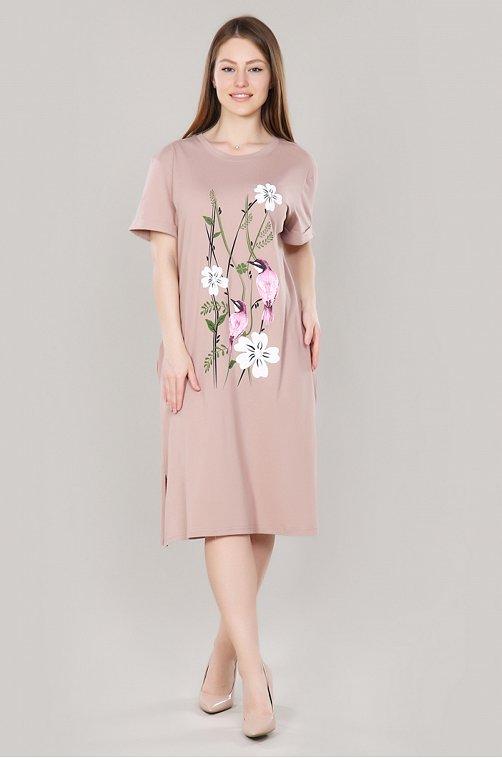 Платье женское Dianida 6619122 бежевый купить оптом в HappyWear.ru